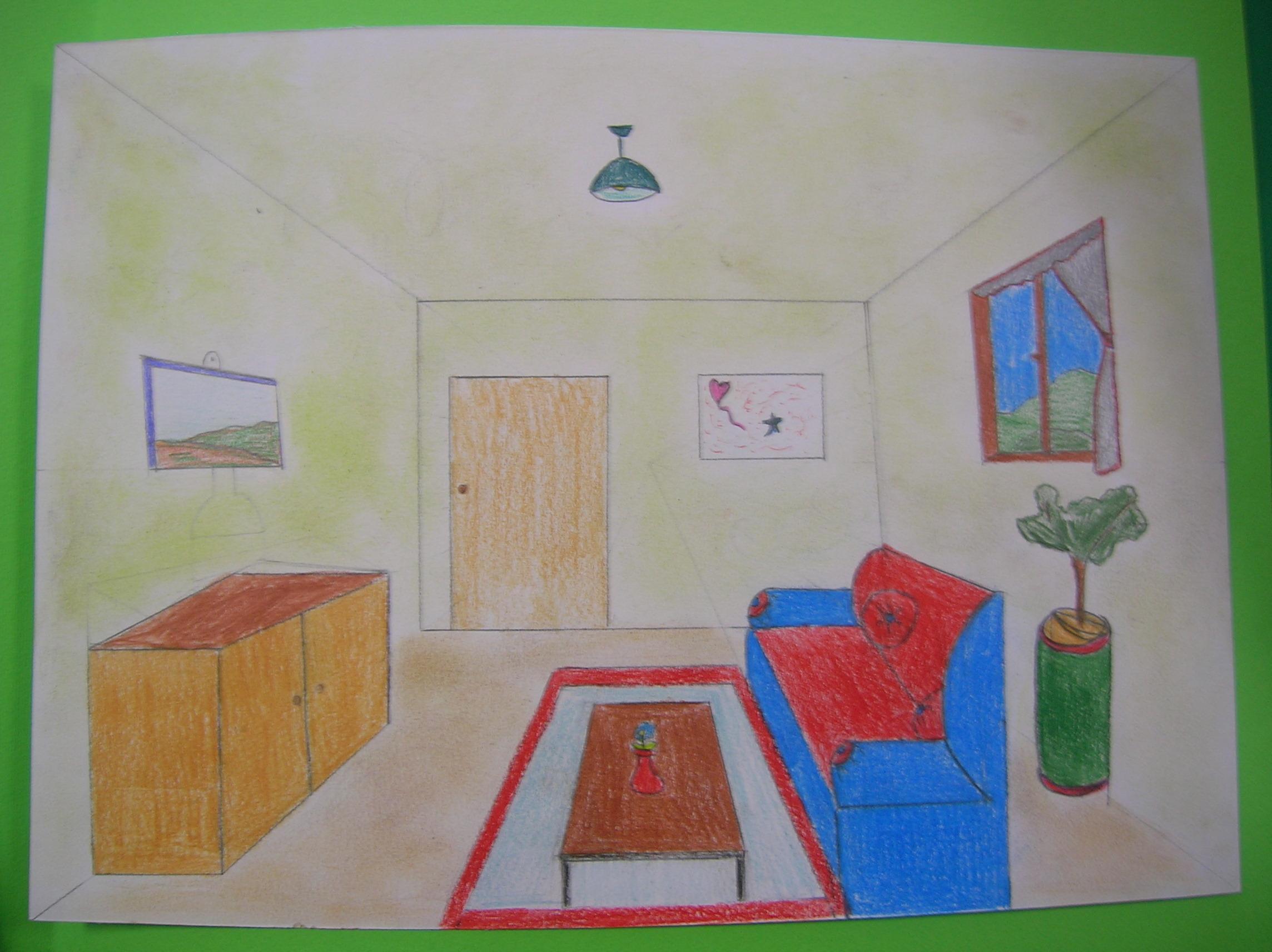 2 a e 2 b arte disegni by grieco for Disegno stanza